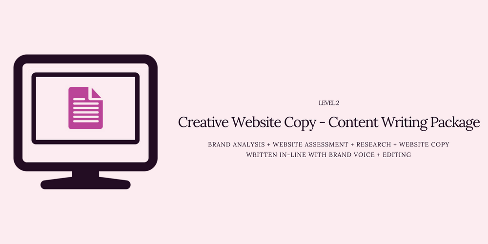 Creative Website Copy Content Writing Package Level 2 1-3 Pages